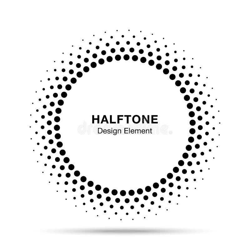 Рамка круга вектора полутонового изображения ставит точки эмблема логотипа, элемент для медицинской, обработка дизайна, косметика иллюстрация штока