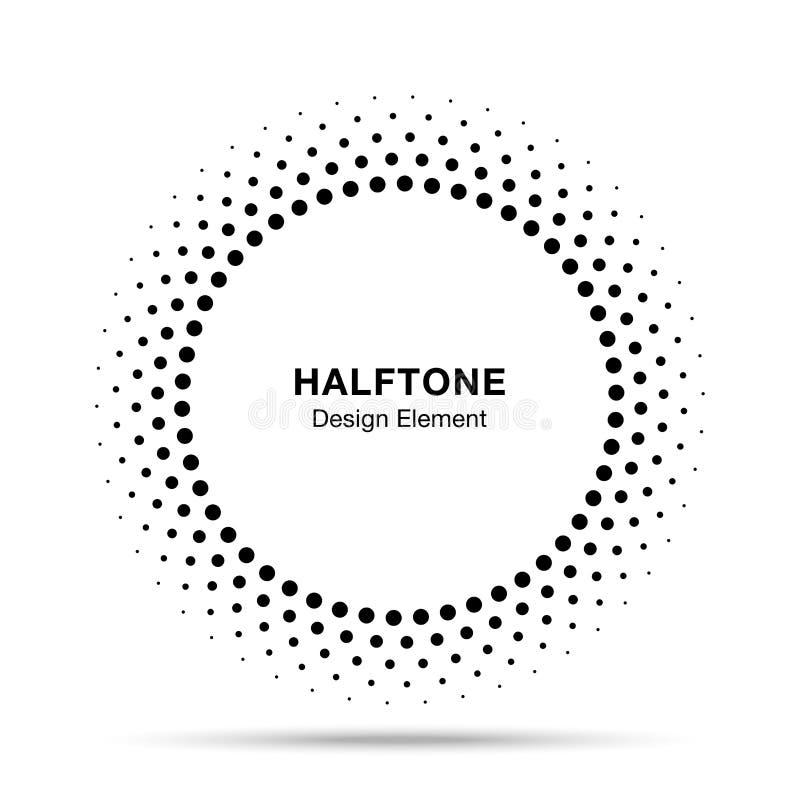 Рамка круга вектора полутонового изображения ставит точки эмблема логотипа, элемент для медицинской, обработка дизайна, косметика бесплатная иллюстрация