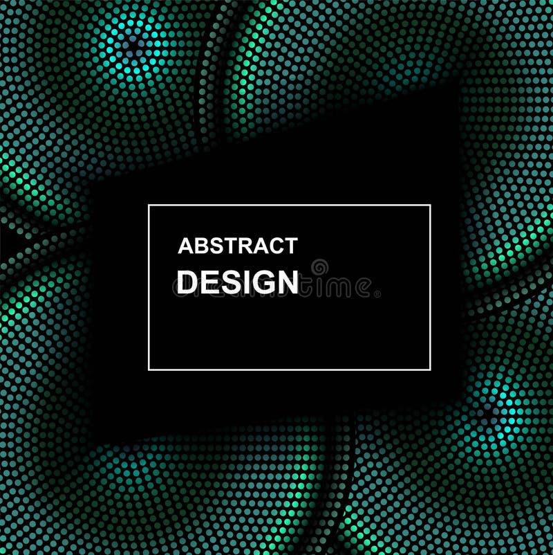 Рамка круга полутонового изображения конспекта вектора Абстрактные поставленные точки элементы дизайна логотипа градиента Картина иллюстрация штока