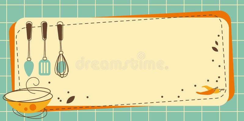 Рамка кухни иллюстрация вектора