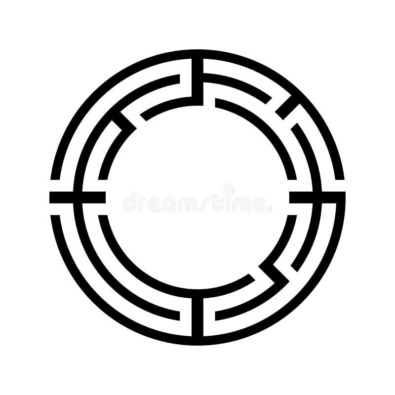 Рамка лабиринта Цель вектора запаса иллюстрация вектора