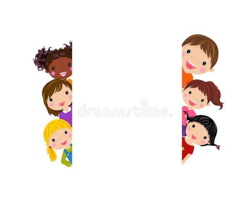 Рамка малышей иллюстрация вектора