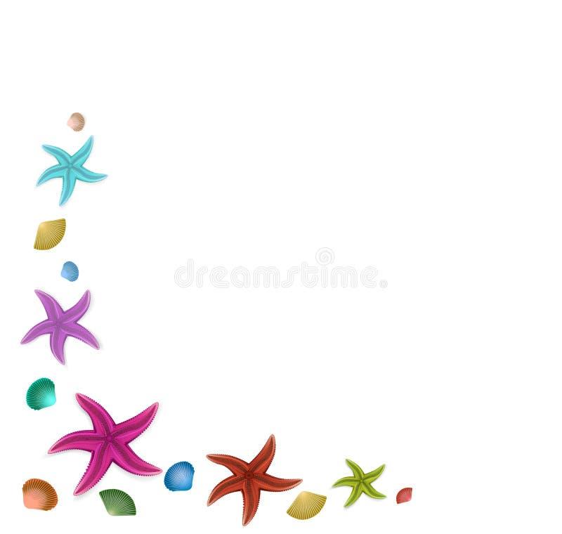 Рамка морских звёзд бесплатная иллюстрация
