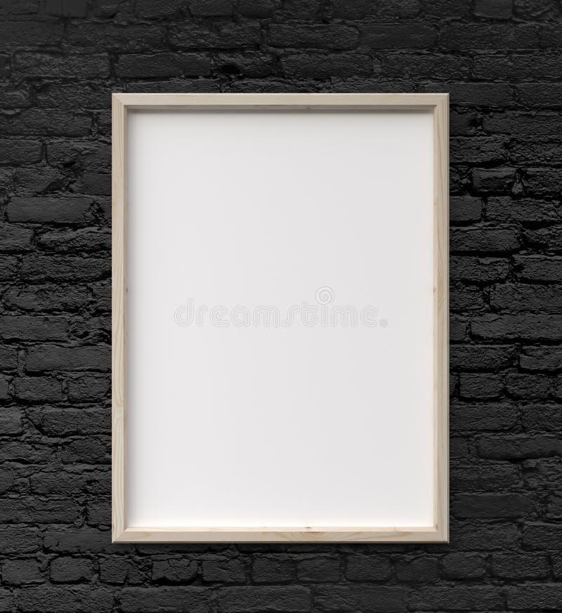 Рамка на стене стоковое изображение rf