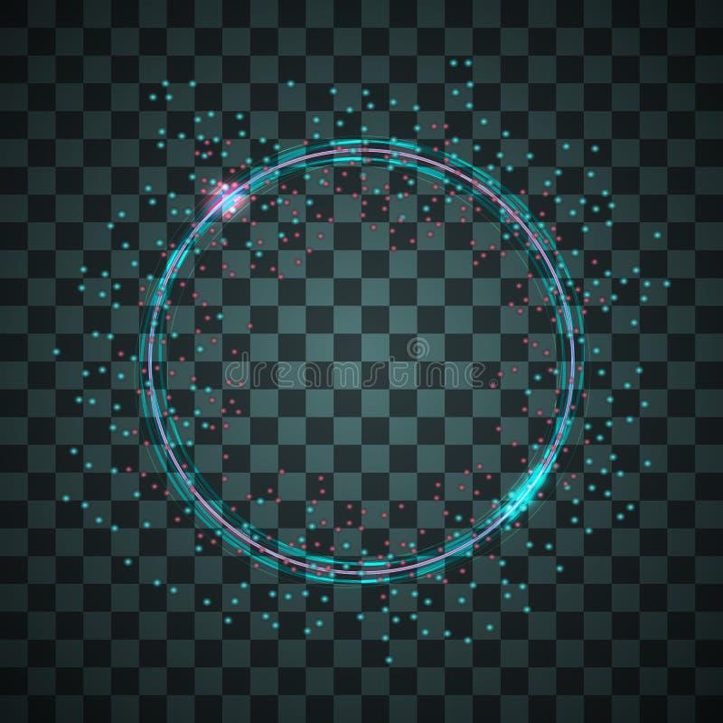 Рамка неона вектора иллюстрация вектора