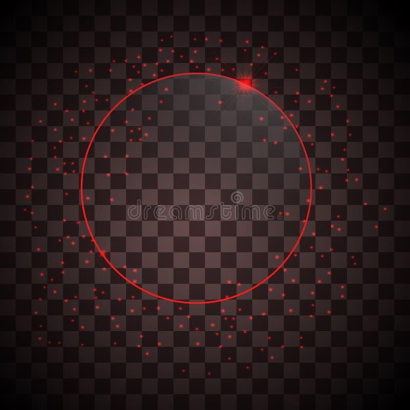 Рамка неона вектора бесплатная иллюстрация