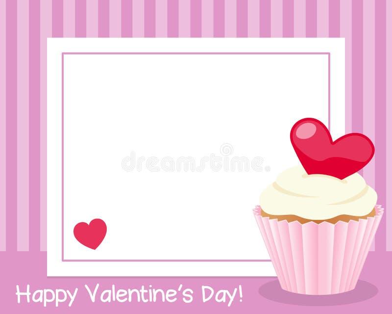 Рамка дня валентинки s горизонтальная иллюстрация вектора