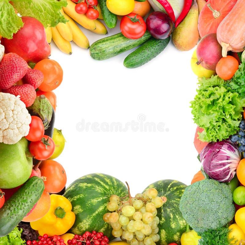 Рамка овощей и плодоовощей стоковая фотография rf