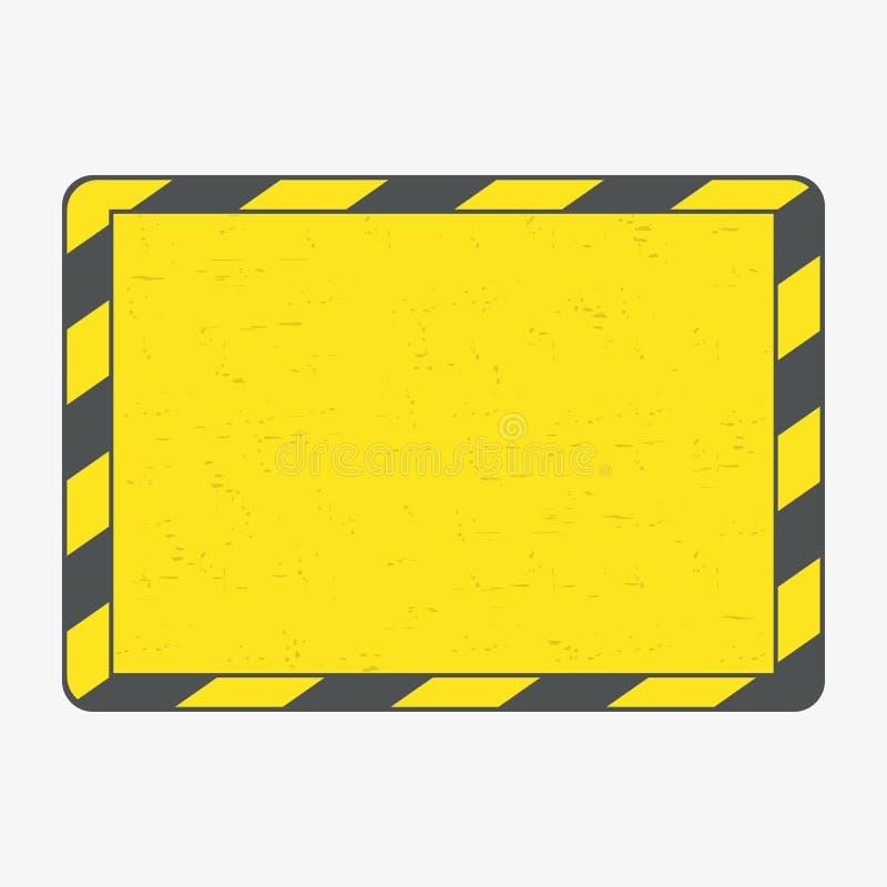 Рамка опасности Черные и желтые линии рамка с grunge вектор бесплатная иллюстрация