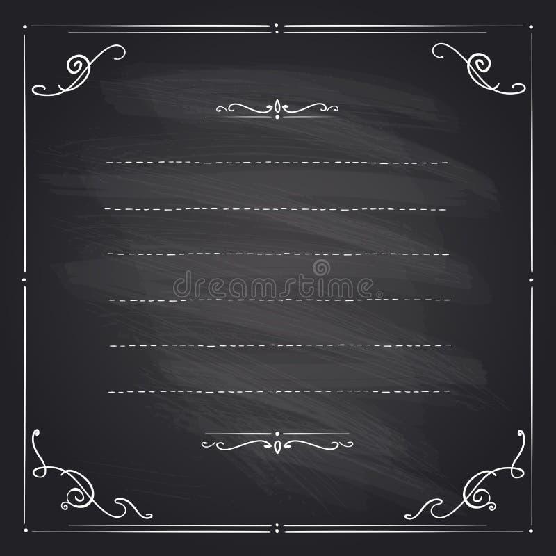 Рамка доски с античными скручиваемостями иллюстрация штока