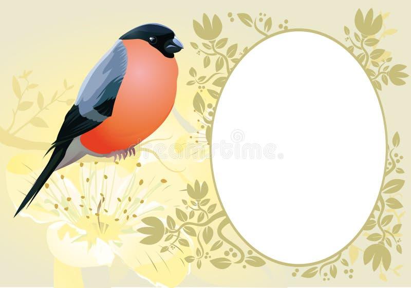 Рамка открытки сбора винограда иллюстрация вектора