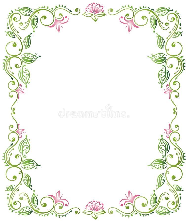Рамка, лотос бесплатная иллюстрация
