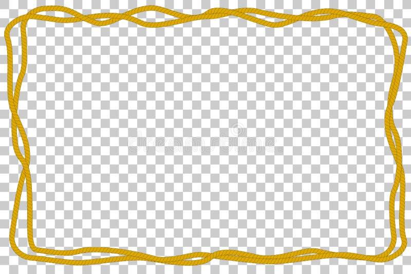 Рамка от веревочки 2, на прозрачной предпосылке влияния иллюстрация вектора
