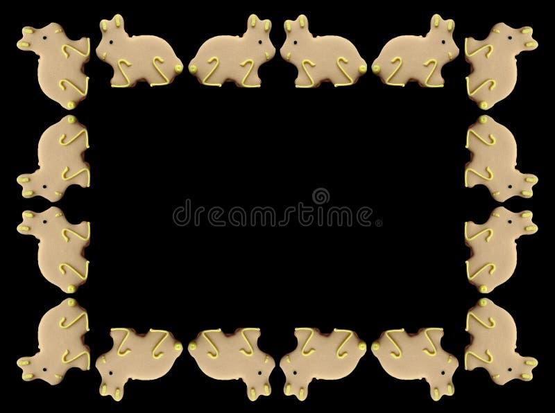 рамка пасхи зайчиков Стоковая Фотография RF