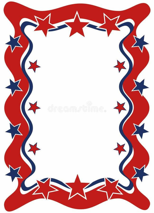 рамка патриотическая иллюстрация вектора