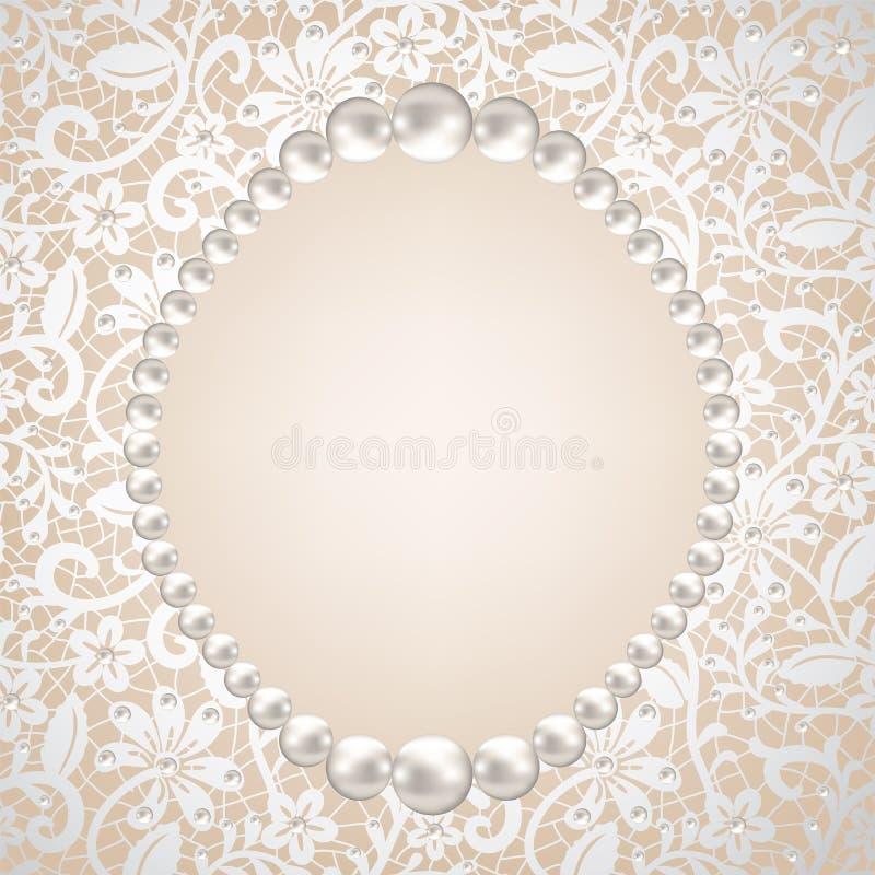 Рамка перлы иллюстрация штока