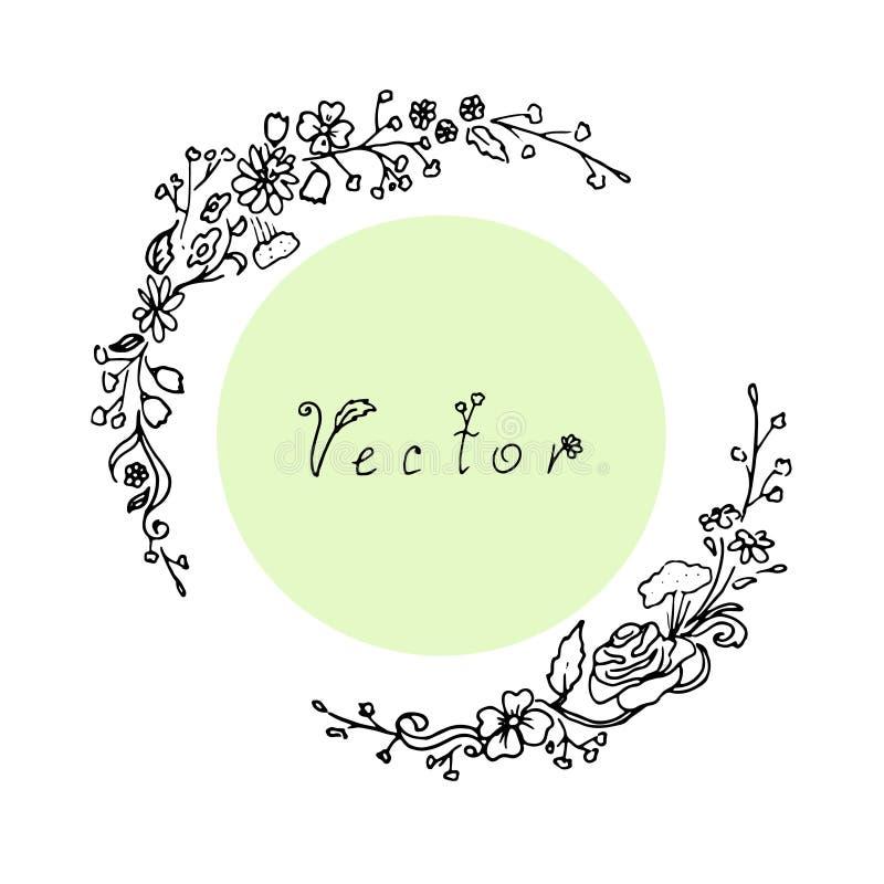 Рамка плана флористическая иллюстрация вектора