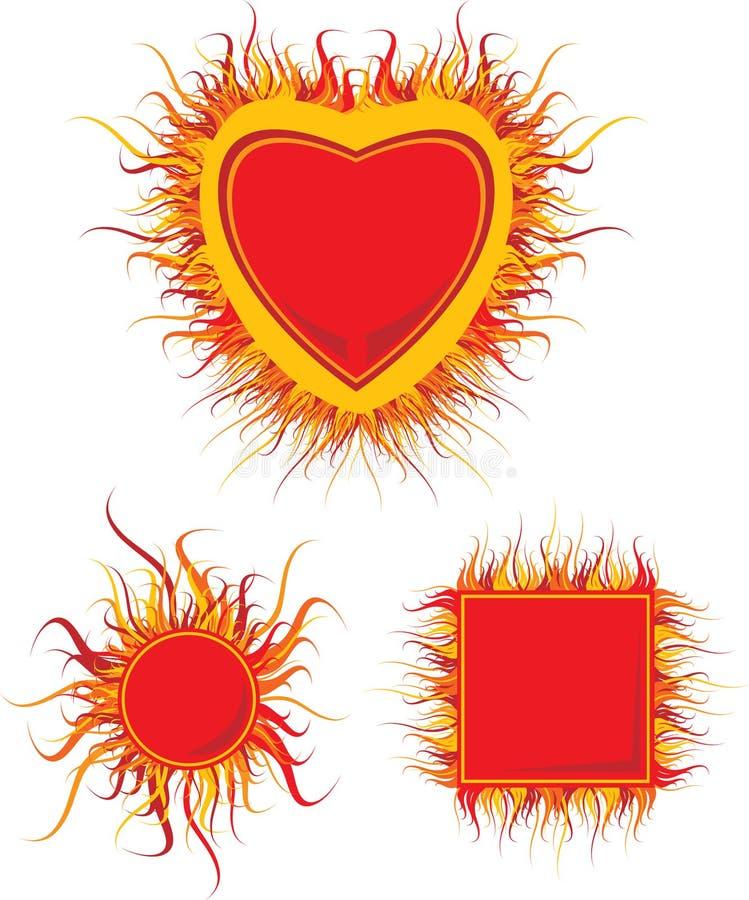 рамка пожара иллюстрация штока