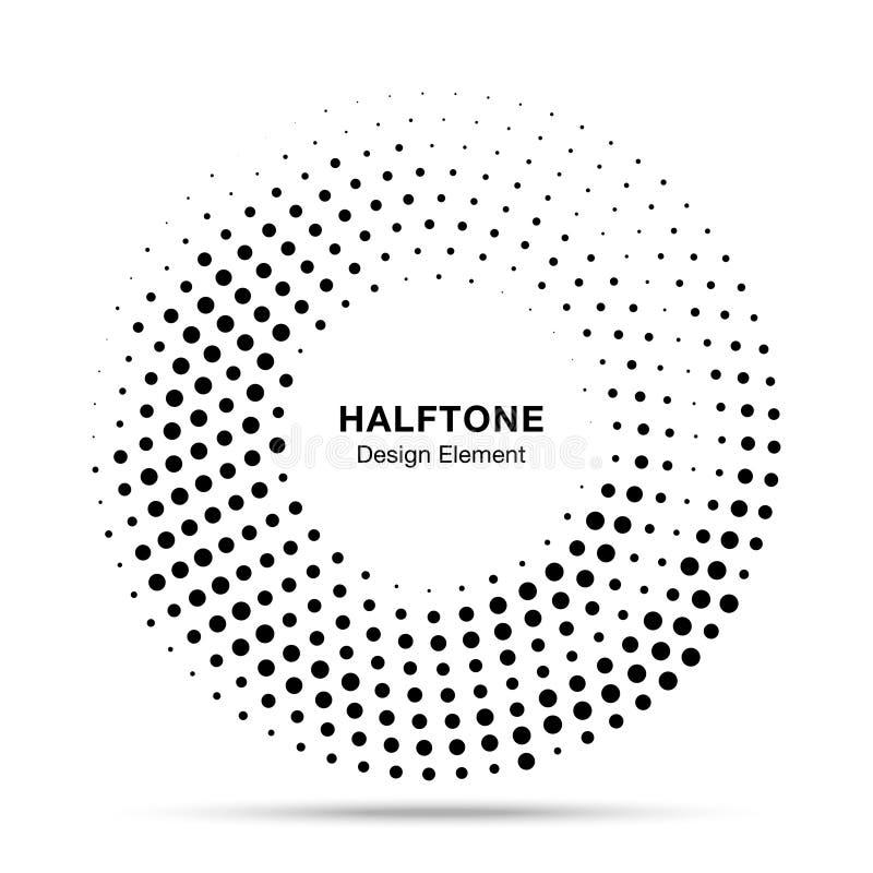Рамка полутонового изображения поставленная точки кругом Текстура точки круга полутонового изображения круглой границы случайная  иллюстрация штока