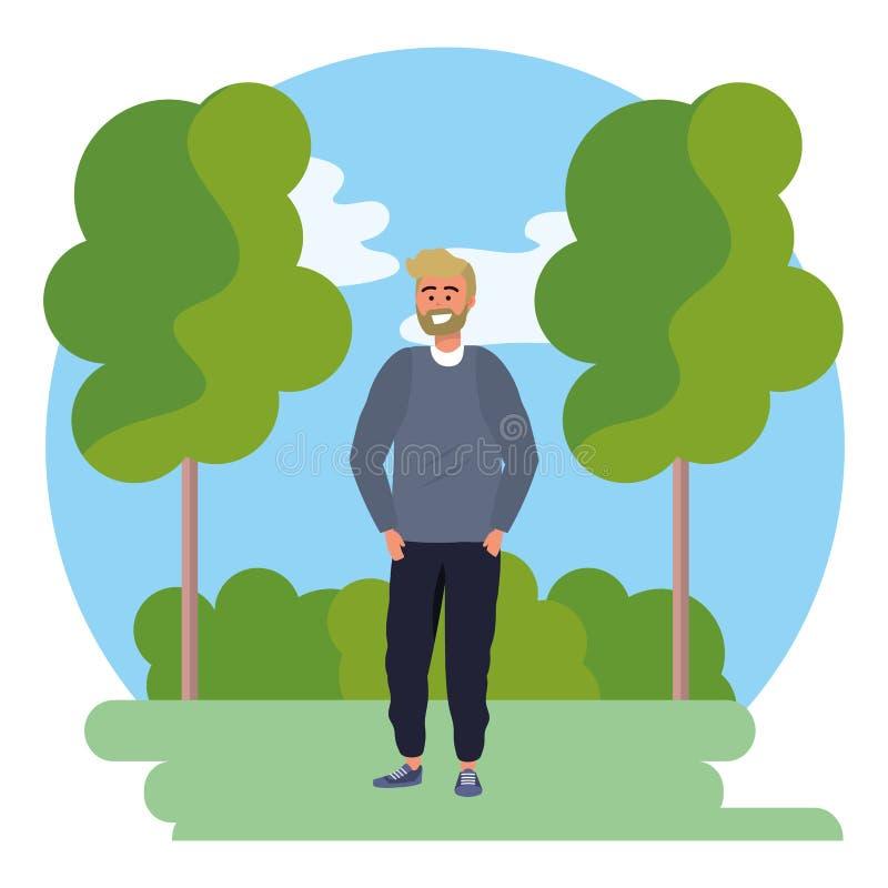 Рамка предпосылки обмундирования тысячелетнего человека стильная бесплатная иллюстрация