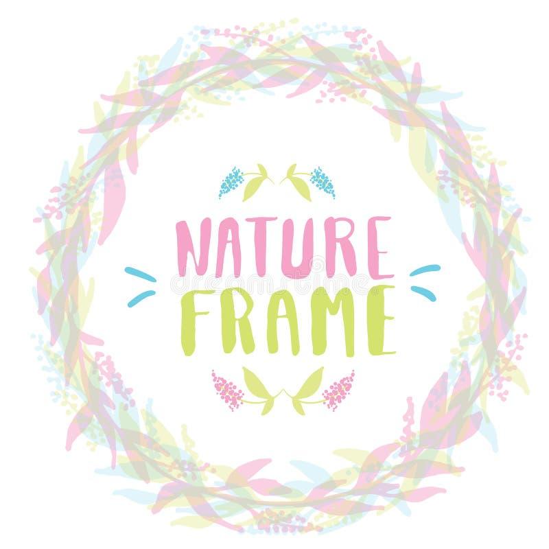Рамка природы для вашего дизайна с цветками иллюстрация вектора