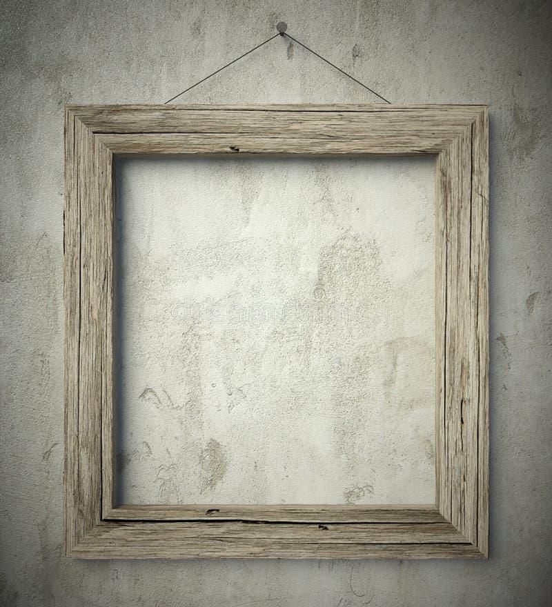 Рамка простого старого круга деревянная, винтажная предпосылка стоковая фотография
