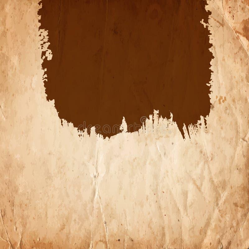 Рамка пустого чертежа пустая грубая на старой бумажной предпосылке стоковое изображение rf