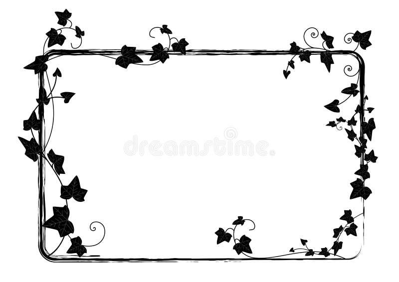 Рамка плюща иллюстрация вектора