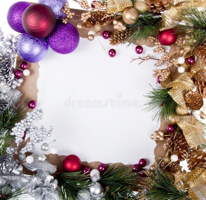 рамка рождества карточки стоковое фото rf