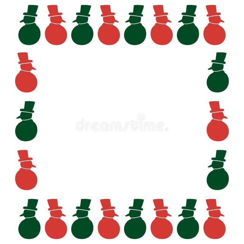 Рамка рождества праздника иллюстрация вектора