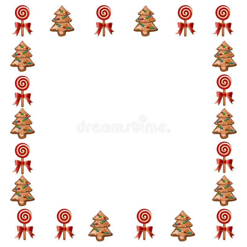 Рамка рождества праздника иллюстрация штока