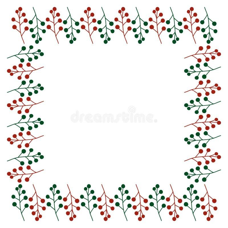 Рамка рождества праздника бесплатная иллюстрация