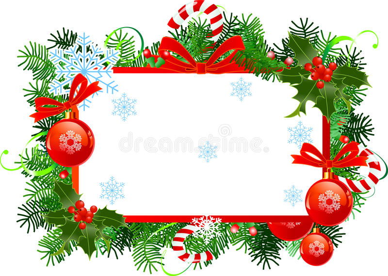 рамка рождества иллюстрация вектора