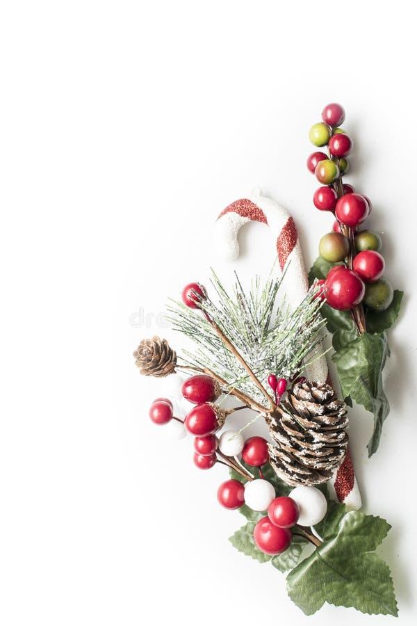 Рамка рождества праздничная над белой предпосылкой стоковое изображение rf