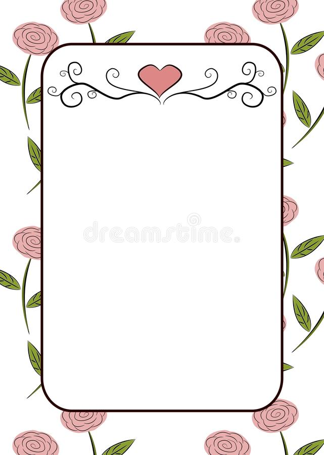 Рамка роз стоковая фотография rf
