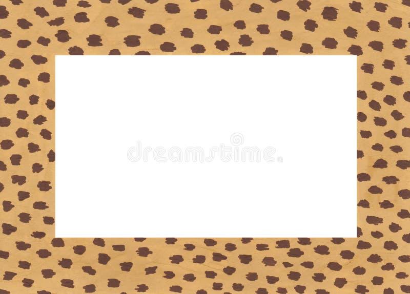 Рамка руки вычерченная акриловая с пятнами гепарда иллюстрация штока