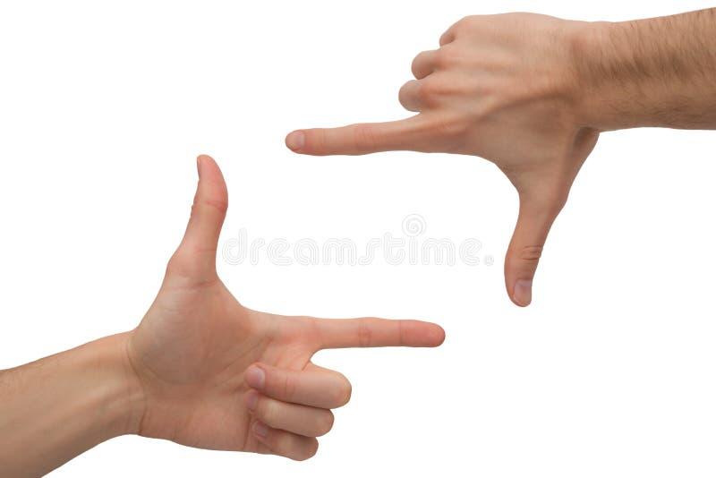 Рамка рук стоковое изображение rf