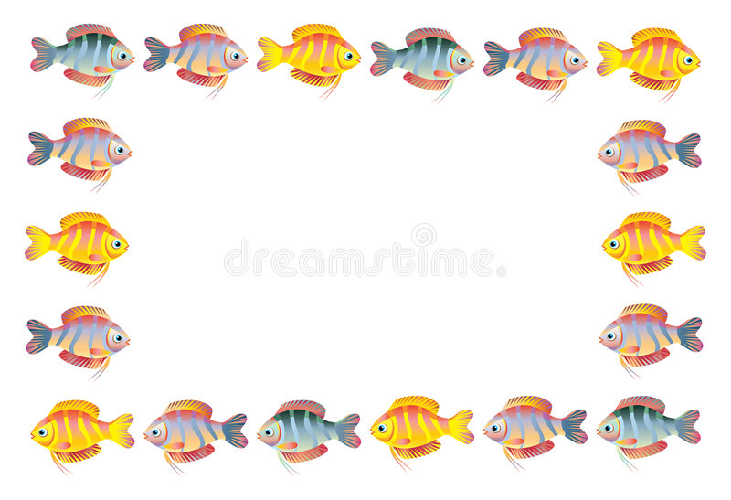 Download рамка рыб иллюстрация вектора. иллюстрации насчитывающей уговариваний - 6870011