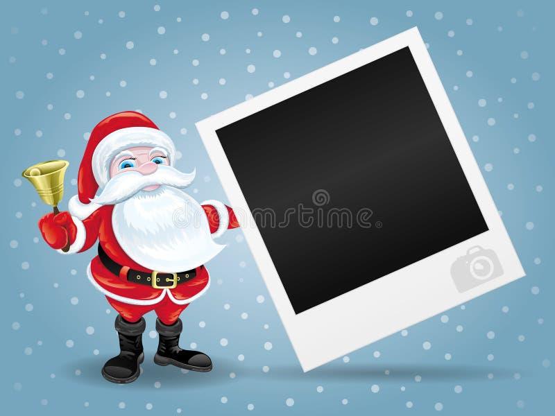 Рамка Санта Клауса и фото иллюстрация штока