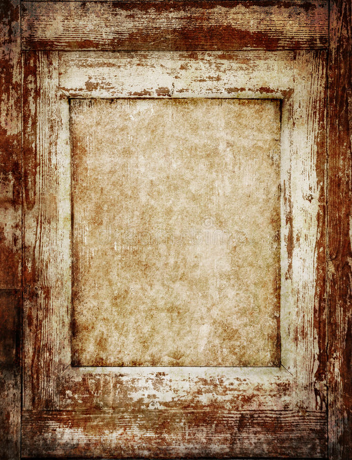 Рамка сбора винограда деревянная стоковое изображение rf