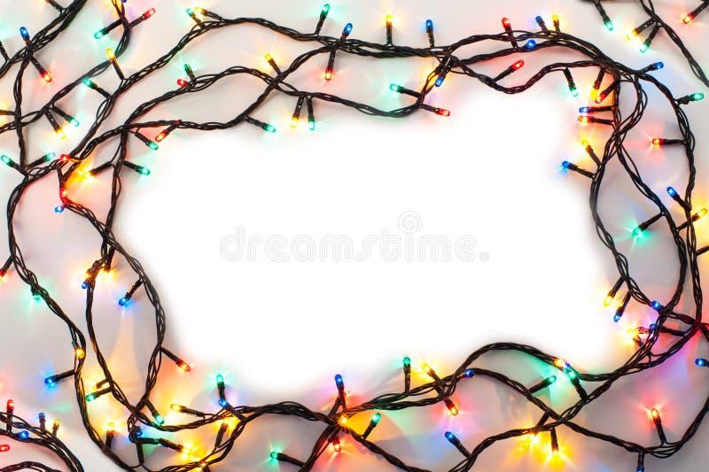 Download Рамка светов рождества стоковое изображение. изображение насчитывающей гирлянда - 81812621