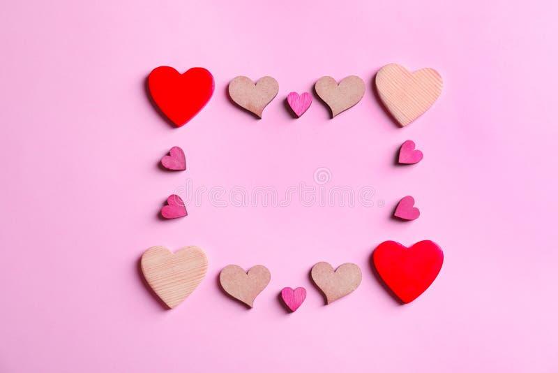 Рамка сделанная сердец стоковые фотографии rf