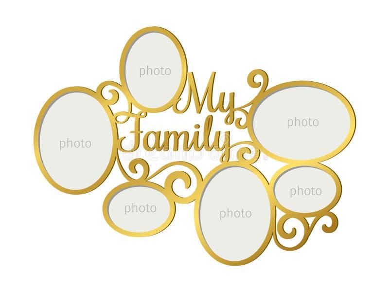Рамка семейного фото иллюстрация вектора