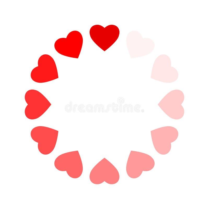 Рамка сердец как любовь загрузки процесса иллюстрация вектора