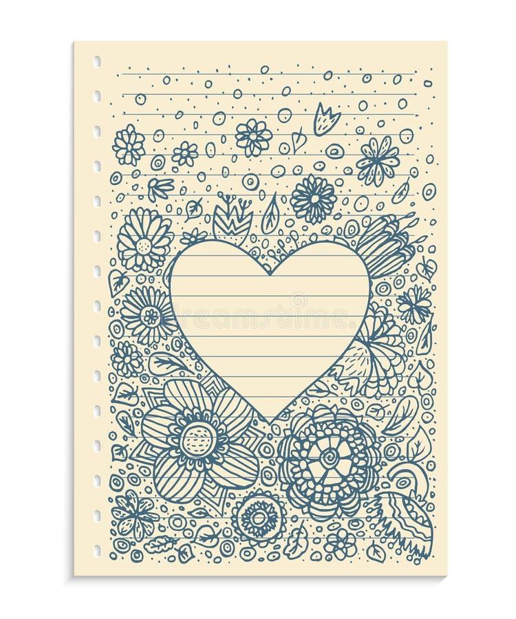 Рамка сердца картины Doodle бесплатная иллюстрация