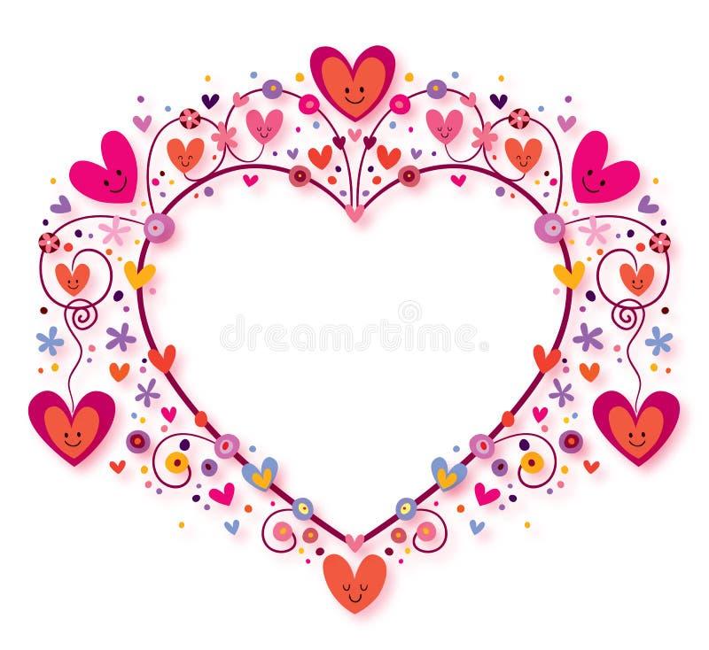 Рамка сердца иллюстрация штока