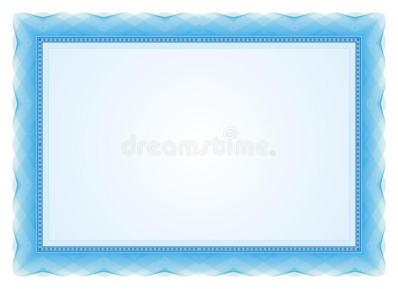 Рамка сертификата - граница иллюстрация вектора