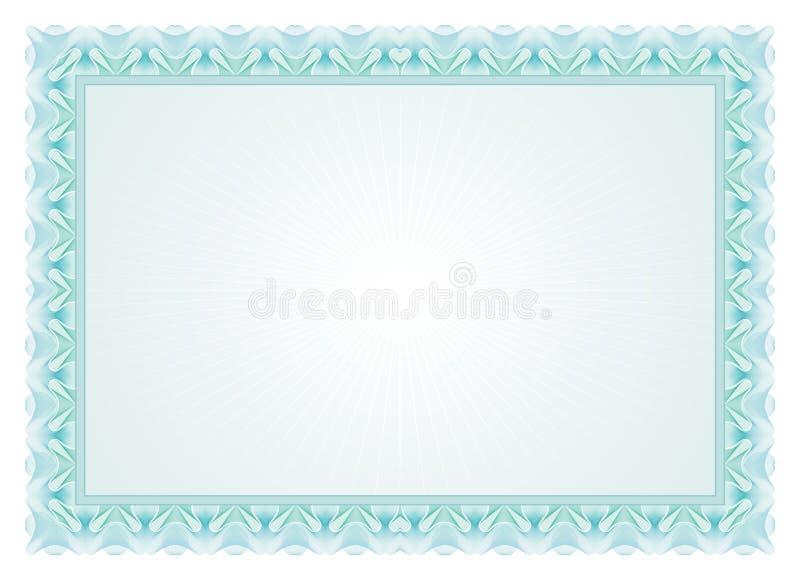 Рамка сертификата - граница иллюстрация штока