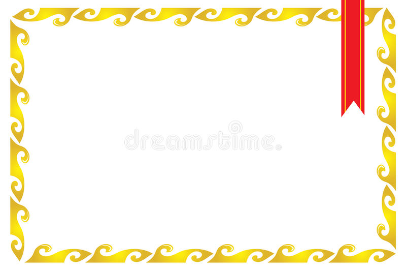 рамка сертификата граници иллюстрация вектора