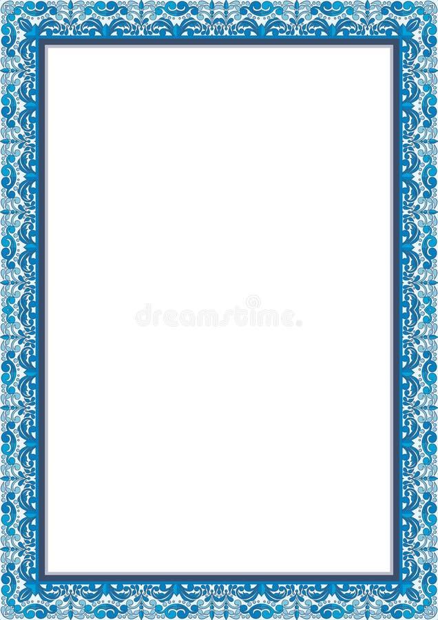 Рамка - сертификат границы с винтажным флористическим орнаментом бесплатная иллюстрация